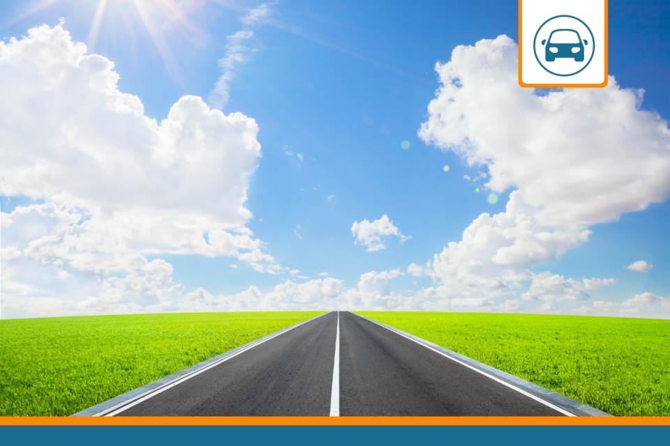 route représentant les kilomètres que peut parcourir une auto avec une assurance au kilomètre
