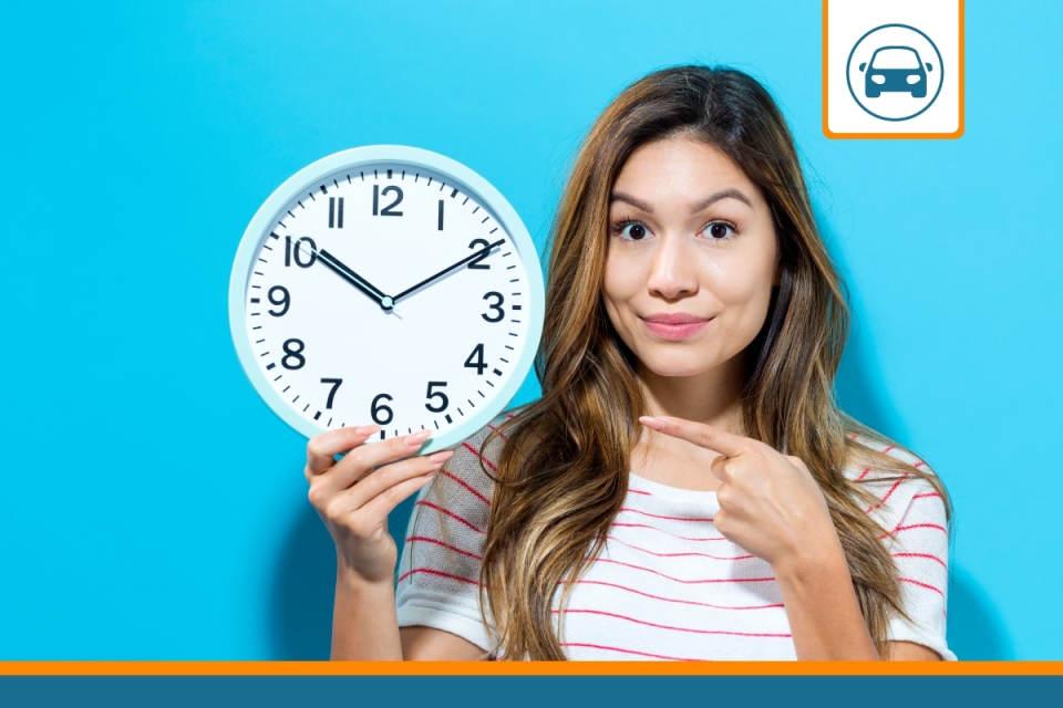 horloge représentant une assurance auto temporaire