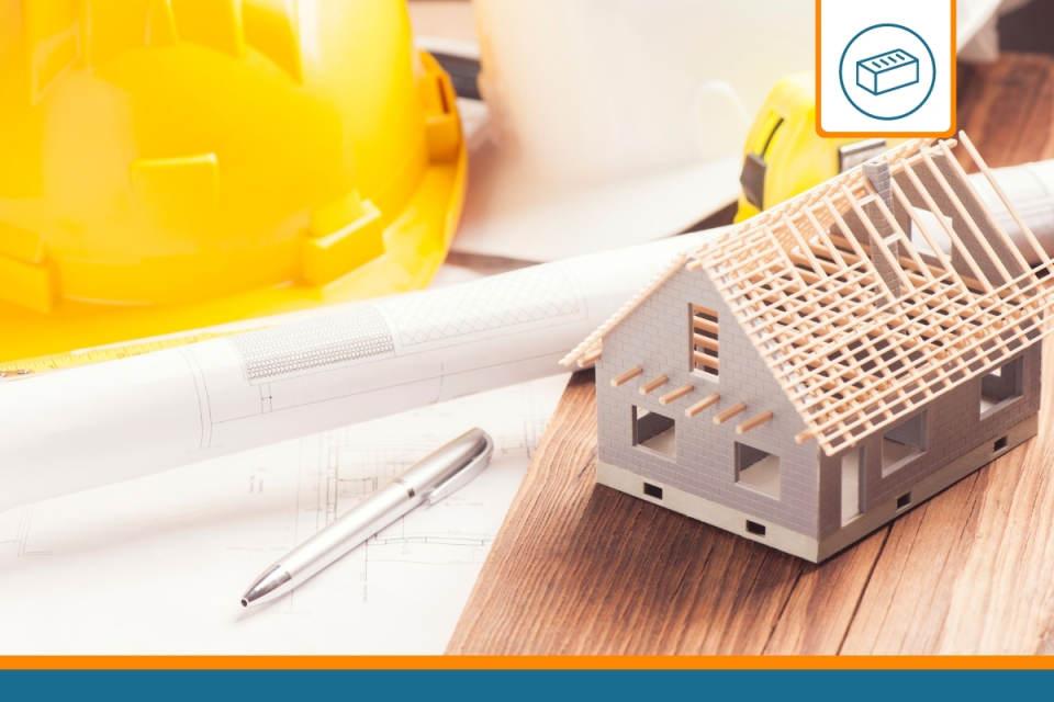 chantier représentant une maison couverte par une assurance dommages ouvrage obligatoire