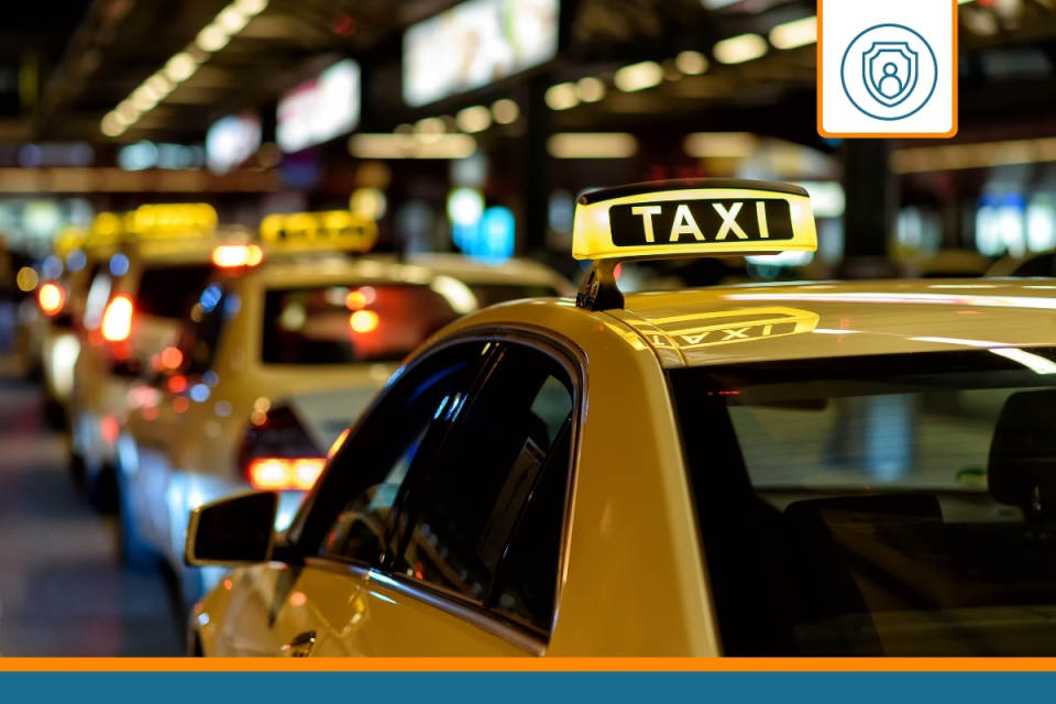 chauffeur de taxi ayant souscrit une RC PRO pour taxi
