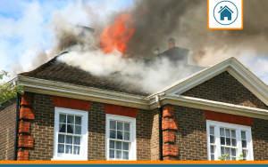 maison en feu couverte par une assurance habitation avec garantie incendie