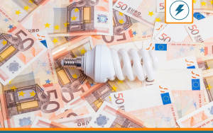 billets en euros et ampoule représentant le prix de l'énergie
